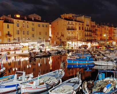 Saint Tropex Harbour at Night