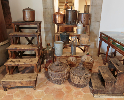 Ancient equipment for the production of perfume in Fragonard factory in Grasse, France